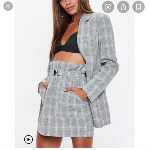 Missguided blazer and skirt set